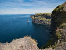 Vista do Oceano Atlântico nos penhascos de Moher imagem de stock