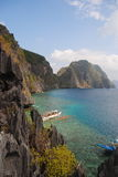 Vista do oceano da parte superior das montanhas Imagens de Stock