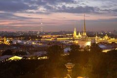 Vista do olho do ` s do pássaro em St Petersburg Imagem de Stock Royalty Free