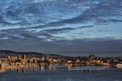Vista do oslofjord imagem de stock