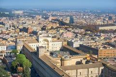Vista do pátio interno do museu do Vaticano, Roma foto de stock royalty free