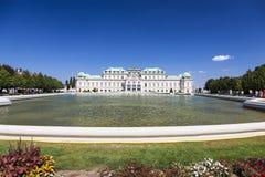 Vista do palácio do Belvedere viena Imagens de Stock Royalty Free