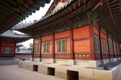 Vista do palácio de Gyeongbokgung, Coreia do Sul Fotos de Stock