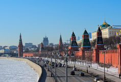 Vista do palácio grande de Kremlin Foto de Stock