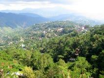 Vista do parque da opinião das minas, Baguio, Filipinas foto de stock
