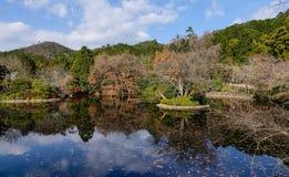 Vista do parque de Kyoryo no outono em Kyoto, Japão Imagem de Stock