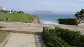 Vista do parque de Miguel Grau em Miraflores Fotografia de Stock