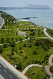 Vista do parque de Miraflores, Lima - Peru fotos de stock royalty free