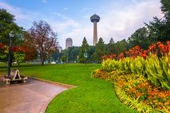 Vista do parque de Niagara Falls Fotografia de Stock