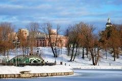 Vista do parque de Tsaritsyno em Moscou Fotos de Stock Royalty Free
