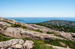 Vista do parque nacional do Acadia em Maine, EUA fotos de stock