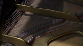Vista do piano de cauda do interior video estoque
