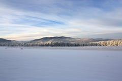 Vista do pico nevado Imagens de Stock