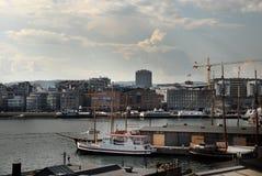 Vista do porto Fotografia de Stock