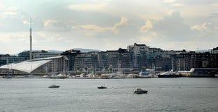 Vista do porto Fotografia de Stock Royalty Free