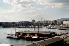 Vista do porto Fotos de Stock Royalty Free
