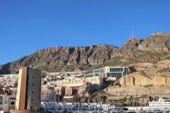 Vista do porto das construções foto de stock royalty free
