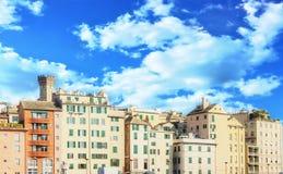 Vista do porto de Genoa Imagens de Stock Royalty Free
