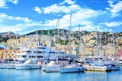 Vista do porto de Genoa Imagem de Stock