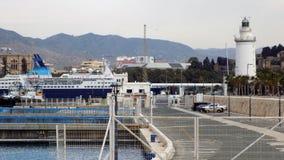Vista do porto de Malaga-Andaluzia-Europa Imagem de Stock Royalty Free