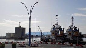 Vista do porto de Malaga-Andaluzia-Europa Fotos de Stock