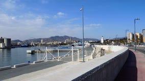 Vista do porto de Malaga-Andaluzia-Europa Imagem de Stock