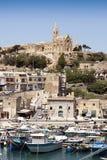 Vista do porto de Mgarr Imagens de Stock