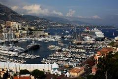 Vista do porto de Monte Carlo Monaco Fotografia de Stock