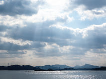 Vista do porto de Sansaku Imagens de Stock Royalty Free
