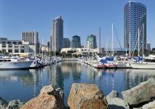 Vista do porto do iate Fotos de Stock Royalty Free