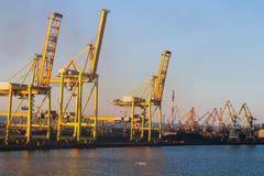 Vista do porto marítimo Fotos de Stock Royalty Free