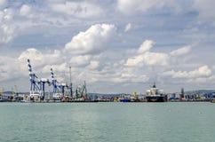 Vista do porto do mar aberto Imagem de Stock
