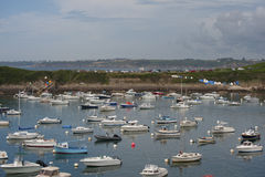 Vista do porto na cidade de Le Conquet (França) Fotografia de Stock