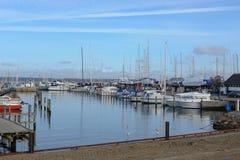 Vista do porto na cidade Dinamarca de Helsingor imagem de stock royalty free