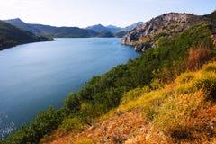 Vista do reservatório do de Luna dos bairros Fotografia de Stock