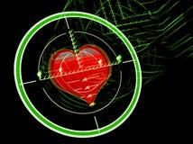 Vista do rifle do atirador furtivo com coração ilustração stock
