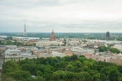 Vista do Riga velho da altura Imagem de Stock