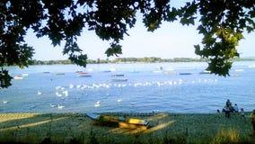 Vista do rio fotografia de stock