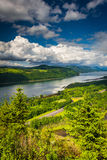 Vista do Rio Columbia da casa da vista Foto de Stock Royalty Free