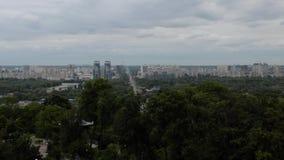 Vista do rio de Dnieper e da cidade de Kiev filme