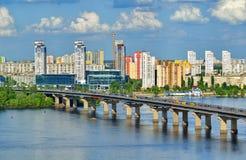 Vista do rio de Dnieper em Kiev Imagem de Stock