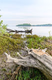 Vista do rio de Dniper na manhã imagens de stock