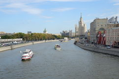 Vista do rio de Moscou, Rússia foto de stock