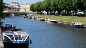 Vista do rio de Moyka em St Peterburg Foto de Stock Royalty Free