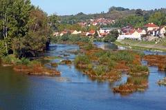 Vista do rio de Una fotografia de stock