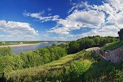 Vista do rio de Vyatka, Kirov, Rússia Foto de Stock