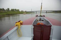 Vista do rio do barco foto de stock royalty free