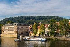 Vista do rio Vltava de Praga Foto de Stock