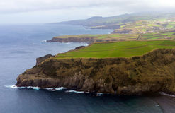 Vista do Sao Miguel da ilha, os Açores, Portugal Fotos de Stock