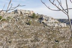 Vista do Sassi de Matera fotografia de stock royalty free